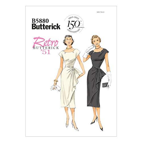 【Butterick】レトロ50年代女優スタイルワンピース型紙セット *5880