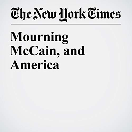 Mourning McCain, and America copertina