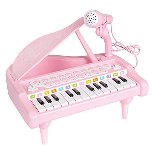 milisten Peuter Piano Met Microfoon Speelgoed Toetsenbord Roze Elektronische Piano Simulatie Piano Voor Kinderen Kinderen