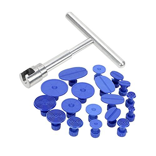 Arrancador Universal Car Dent Reparador Pantalón Solla Metal Plastic Suction Cup Floging Reparación Kit Herramientas de reparación de automóviles 1 unids x Martillo deslizante + 18pcs x Pestañas de pe