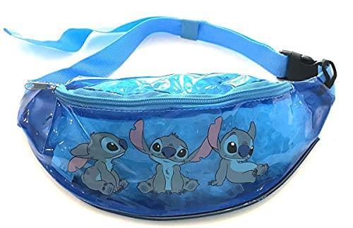 Disney Lilo & Stitch Blue Clear Vinyl Stitch Sitting Trio Waist Belly Bag Fanny Pack
