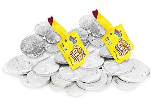 Hanukkah Gelt Coins Chocolate - Kosher Bittersweet Chocolate Coins (Parve) - 12 Mesh Bags Filled with Menora Embossed Hanukkah Gelt Coins