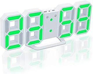 3D LED Digital Clock with Night Mode Adjust the Brightness Electronic Table Clock Alarm Clock Wall Glowing Hanging Clocks(...
