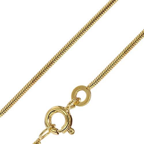 trendor Goldkette Damen 333 Gold (8 Karat) Schlangenkette 1,3 mm 72122 42 cm