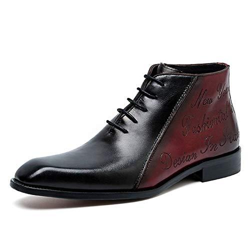 ZRH Zapatos Hombre Invierno Botas De Chelsea for Hombres Botas De Tobillo De Cuero Genuino Suela Puntiaguda Punta De Punta De Punta De Encaje Classic Classic Botas Hombre Impermeables