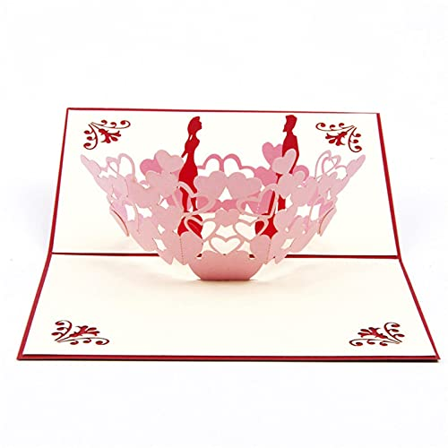 3 Pcs 3D Laser Cut Handmade Heart Lovers Paper Invitation Greeting Cards PostCard Party Wedding Valentine's Day Anniversary Girl Gift