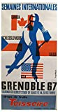 Hockey Grenoble 1967 Poster, Reproduktion, Format 50 x 70