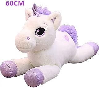 VKISI Giant 80/60Cm Unicorn Plush Toy Soft Stuffed Ular Cartoon Unicorn Dolls Animal Horse Toy Toys for Children Girls Child Boy Must Haves Unique Gifts Childrens Favourites
