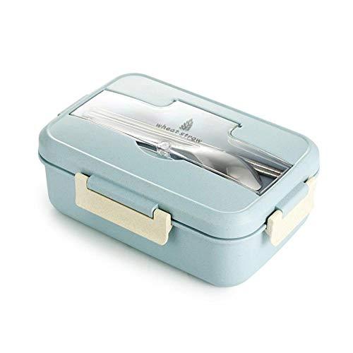 AZi Lunch Box Milieuvriendelijk materiaal Tarwestro Draagbare Magnetron Bento Doos Voedsel Bewaardoos Met Servies
