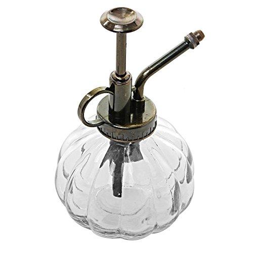 E-Meoly Vaporisateur d'eau vintage en verre transparent avec pompe sur le dessus