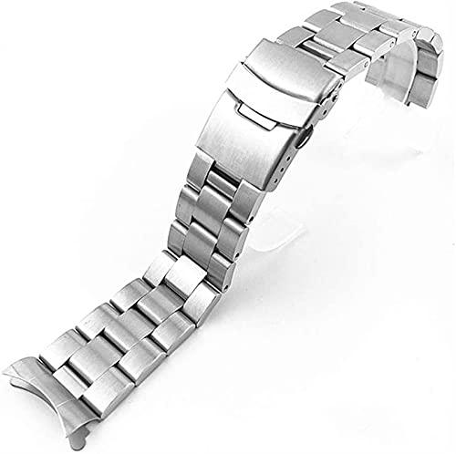 Reloj Correa, 20 mm 22 mm de acero inoxidable completo de acero inoxidable de metal de metal universal de la banda de la banda curvada del extremo superior del reloj de la pulsera de la pulsera de los