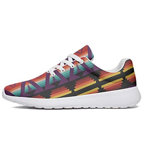 Wraill Zapatillas de deporte unisex para adultos, de Egipto India, con estampado de Maya impreso, para correr, caminar, correr, hacer deporte., color, talla 36 EU