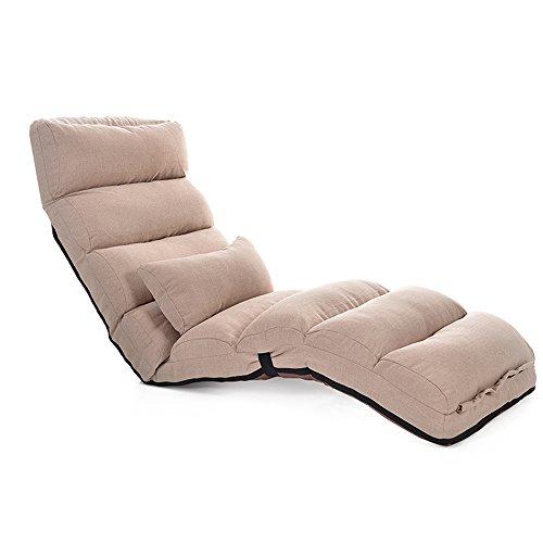 Fauteuils inclinables Feifei Sofa Pliable de Sofa de Sofa de Tissu Paresseux de Sofa de Chaise arrière Se Pliant Le réglage Multi-étape Pliant (Couleur : Kaki)