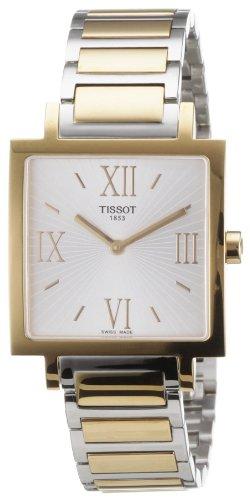 Tissot HAPPY CHIC SQUARE - Reloj analógico de mujer de cuarzo con correa de oro rosa dorada