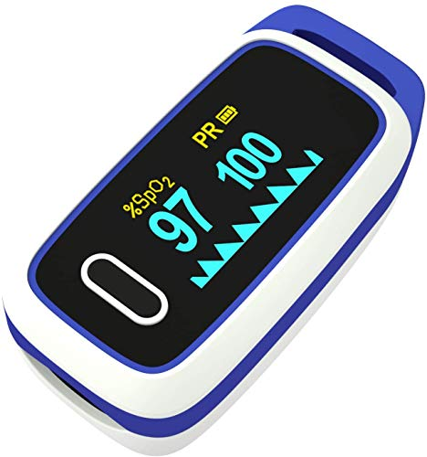 Pulse Oximeter Fingertip - Lovia Automatic Digital Blood Oxygen Saturation Monitor for Pulse Rate and SpO2 Level, LED Display Oximeter & Heart Rate Monitor