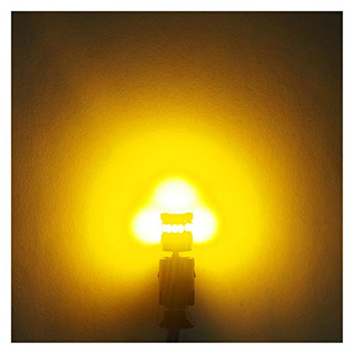 SSGLOVELIN 10x W5W T10 LED CANBUS Light Bulbs Ajuste para BMW Audi Mercedes Coche Lectura Interior Luces Aparcamiento Azul Azul Amarillo No Error 12V (Emitting Color : Yellow)