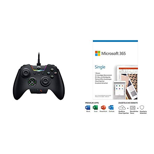 Razer Wolverine Ultimate - Kabelgebundener Gaming Controller für Xbox Series X/S + + Microsoft 365 Single | Box
