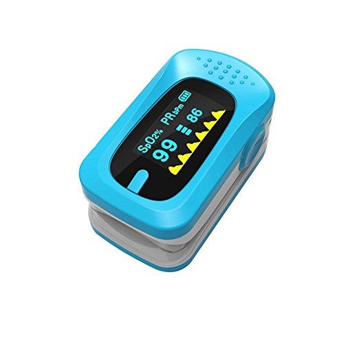D&F Ossimetri Pulsossimetro - Impulsi di Sangue Digitale con Allarme - Letture Rapide dal Dito della Punta della Ditats, A