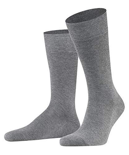 FALKE Herren Socken Family, Baumwolle, 1 Paar, Grau (Light Grey Melange 3390), 47-50 (UK 11.5-14 Ι US 12.5-15)