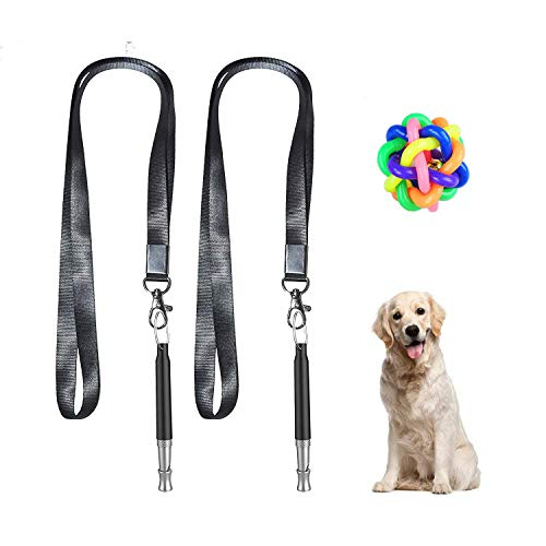 CELLBELL Dog Whistle to Stop Barking, Adjustable Pitch Ultrasonic Training Tool Silent Bark Control