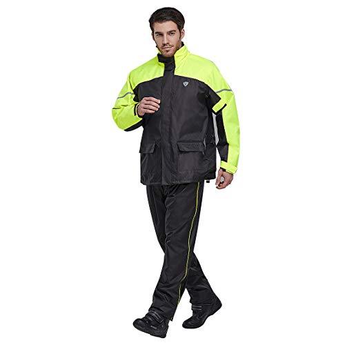 LVNRIDS Herren und Damen Regenanzug Jacke Hose Schneeanzüge Wasserdicht Anti-Storm-Regenmantel für Outdoor Wandern Reisen Gelb XL