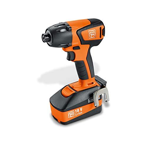 FEIN 71150761000 ASCD 18-200 W4 1500RPM 18V Negro, Naranja-Atornillador de Impacto (18 V, Ión de Litio, 5 Ah, 1 kg, 210 NM)