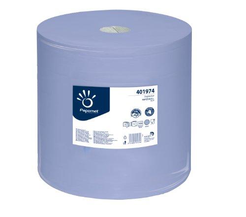 PAPERNET Superior Putztuchrolle RC 3-lagig, 1 Stück, blau,412020