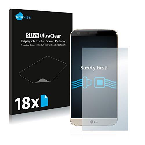 savvies 18-Pezzi Pellicola Protettiva Compatibile con LG G5 SE Protezione Schermo Trasparente