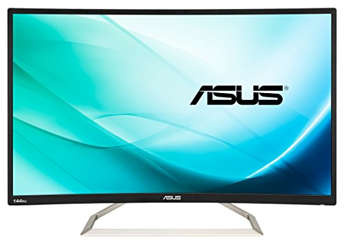 ASUS VA326H 32' Curvo FHD Gaming Monitor, 1920 x 1080, VA, 144 Hz, D-Sub, DVI, HDMI, Flicker Free, Filtro Luce Blu, Certificazione TUV