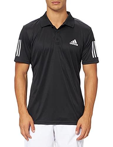 adidas Club 3str Polo de Tenis, Hombre, Negro/Blanco, L