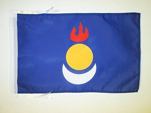 AZ FLAG Flagge INNERE MONGOLEI 45x30cm mit Kordel - KYRILL-MONGOLISCH Fahne 30 x 45 cm - flaggen Top Qualität