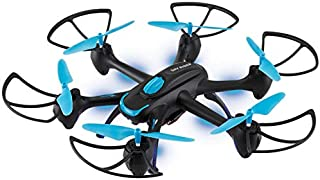 Sky Rider Night Hawk Hexacopter Drone with Wi-Fi Camera and Voice Control, Includes Remote Control, Phone Holder, USB Cable and 6 Replacement Rotors (DRW557BU)