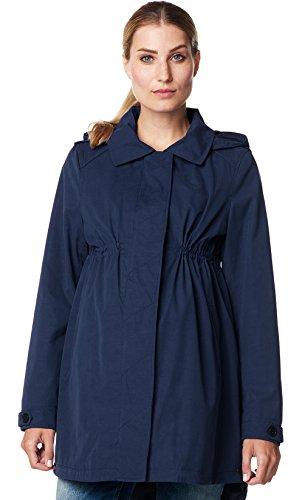 ESPRIT Maternity Damen Parka Umstands Jacke Jacket abnehmbare Kapuze Dark Navy 40