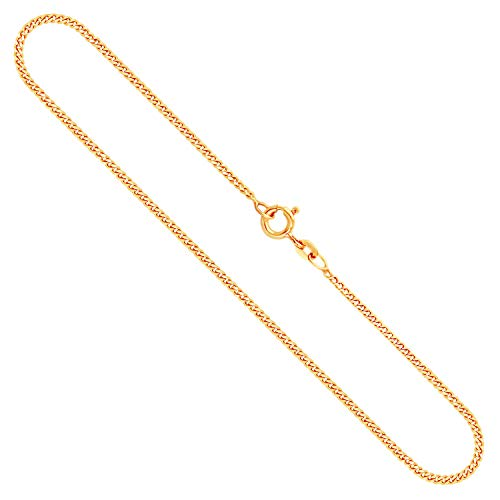 Goldkette, Panzerkette flach Gelbgold 333/8 K, Länge 70 cm, Breite 1.7 mm, Gewicht ca. 5.8 g, NEU