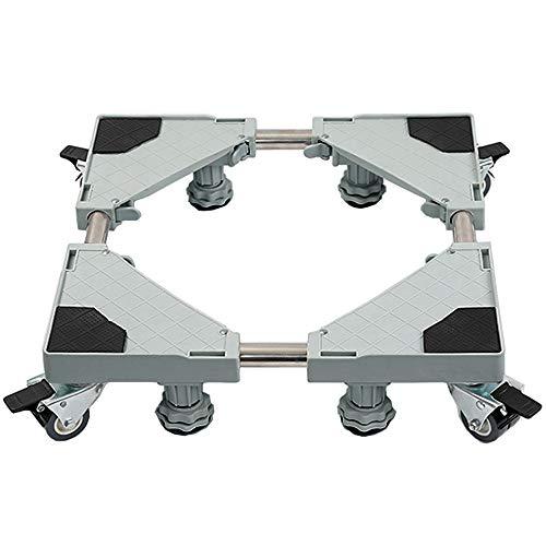 Mueble multifuncional Dolly Roller Base Soporte Frigorifico Ajustable con Base Móvil para Lavadora, Frigorífico y Secadora (4 pies 8 ruedas)