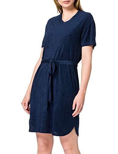 Schiesser Damen Sleep Lounge Dress 1/2 Arm, 90cm Nachthemd, Nachtblau, 38