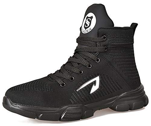 SUADEX おしゃれ 軽量 安全靴ハイカット あんぜん靴 ブーツ 作業靴 冬用 安全はいカット 黒 ブーツ安全 作業半長靴 ショートブーツあんぜん 鋼先芯 耐摩耗 ケブラー防刺 耐滑