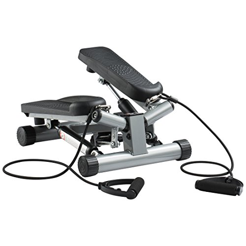 Ultrasport Up-Down-Stepper mit Trainingsbändern, Mini-Fitnessgerät inkl. Trainingscomputer mit vielen Funktionen, Fitnesstraining für Zuhause, Heimtrainer, Swingstepper für Bein- und Po-Training