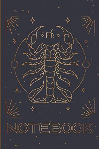 Scorpio Noteboo: Scorpio Zodiac notebook Composition Notebook & Blank Space Astrology Journal Horoscope Book Vintage Secret Writing Journal Gold ... Man Teenage Girl Birthday Scorpio Zodiac Sign