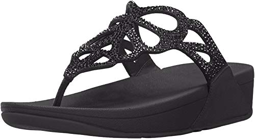 Fitflop Bumble Crystal Toe Post Black