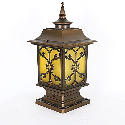 WISHVYQ Luz de Columna de exteriorBaliza Impermeable al Aire libreValla de Poste de Entrada Fuera de la lámparaColumna de luz de Exterior de Estilo europeoIluminación Decorativa del jardín del Patio