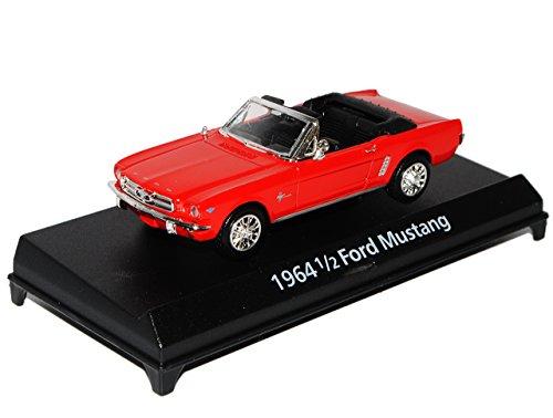 Motormax Ford Mustang 1964 1/2 Cabrio Rot 1/43 Modell Auto mit individiuellem Wunschkennzeichen