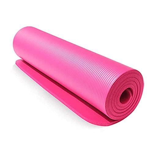 Ejercicio de la estera de yoga antideslizante NBR Mat de espuma de fitness extra gruesa antideslizante de alta densidad acolchada para pilates gimnasia estiramiento de entrenamiento de aptitud con cor