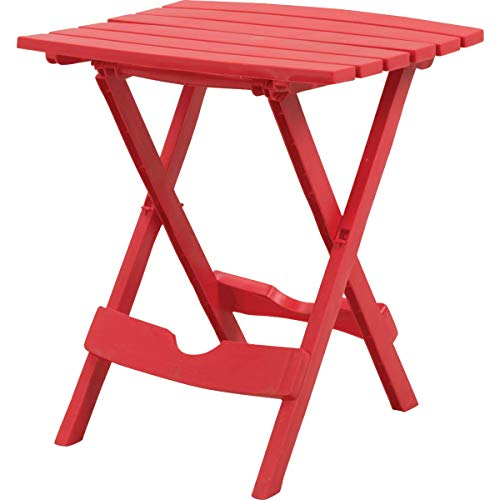 Adams Manufacturing Quik-Fold Side Table in Cherry Red