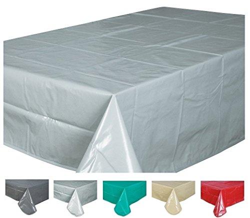 Home Direct Nappe toile cirée PVC Rectangulaire 140 x 200 cm Uni Gris Clair