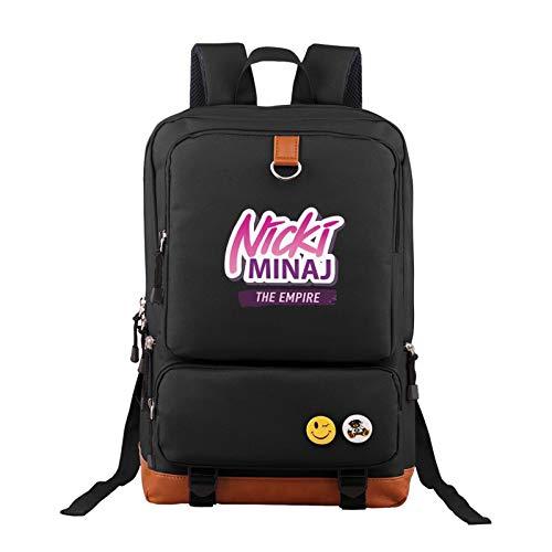 Black Unisex Nicki Minaj Backpack Vintage Laptop Backpack Anti-Theft Water Resistant Bag Casual Computer Backpack