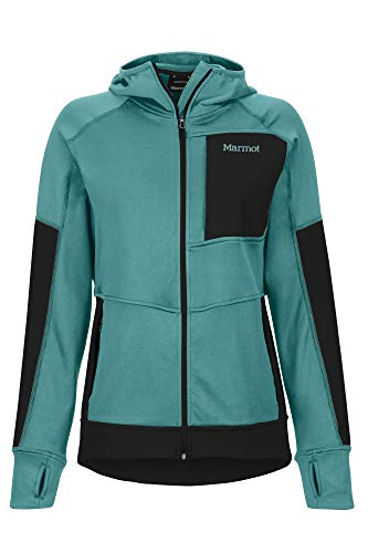Marmot Dames Wm's Dawn Hoody Fleece Jacket, Outdoorjas, ademend