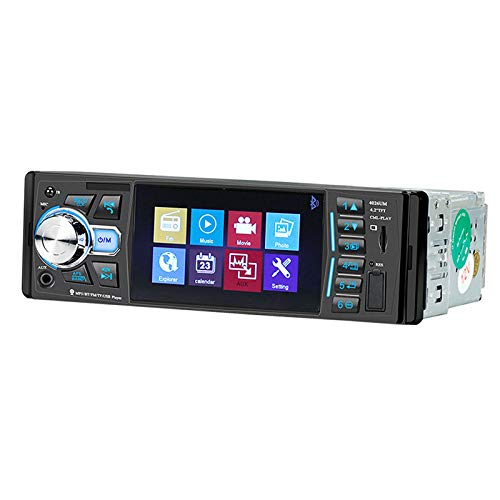 Nrpfell 1 DIN Car Radio Player in-Dash HD Multimedia Player Sterzo 4.2 Pollici Car MP5 Video Player con Fotocamera 4026UM