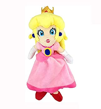 Super Mario Bros Plush Toy Princess Peach Stuffed Animal Soft Doll Figure - 8 Inch Tall  Pink