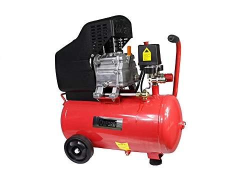 Vetrineinrete Compressore aria a cilindro serbatoio da 25 litri motore 2 Hp 8 bar con manometro e ruote 25 lt P28